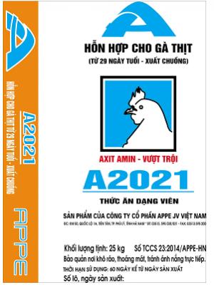 A2021-HH gà thịt 36 ngày tuổi đến xuất chuồng
